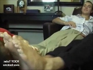 Studs getting their feet worshipped by a slut