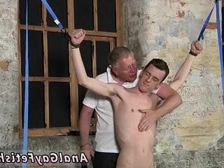 Young boys faggot pornographyo bondage With his delicate ball sac tugged and