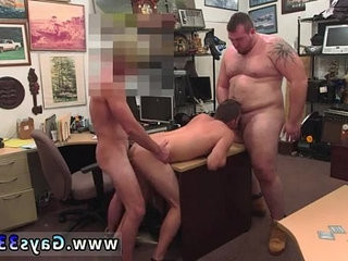 Gay pawn photos Guy finishes up with ball-sacfuck invasion sex threesome