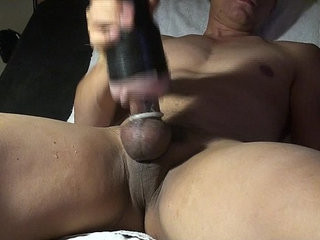 unwinding on the couch and jacking off with my toy.