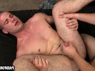 Straight hunk getranssexual fucked anally for cash