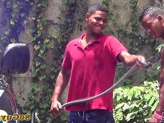 Gay african twinks fucking at outdoor carwash
